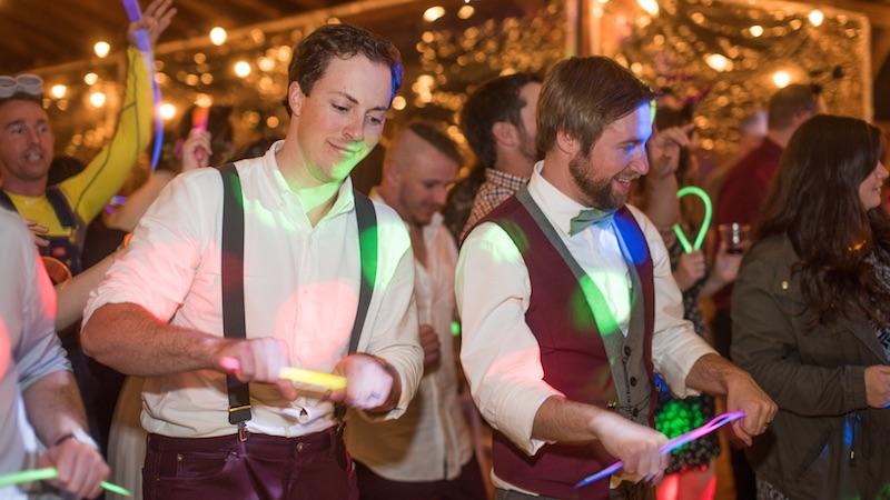 Guests dancing at a WGW Media event.