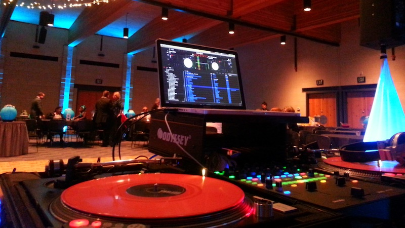 A picture of WGW Media DJ equipment.