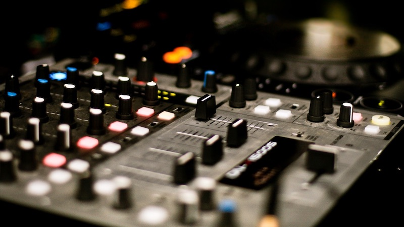A photo of our DJ equipment.