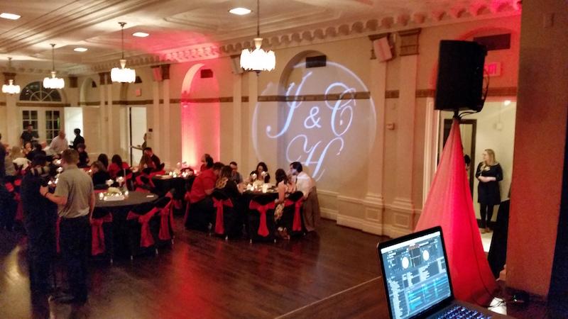 A Gobo projector at a WGW Media wedding.