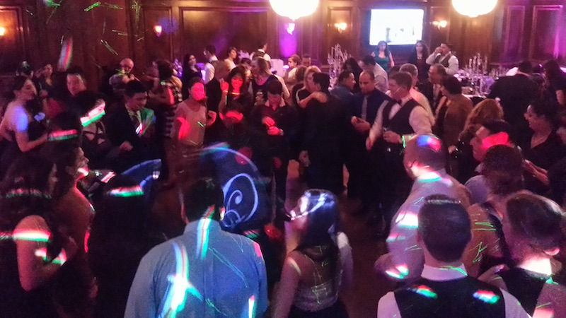 Dance floor lighting at a WGW Media event.