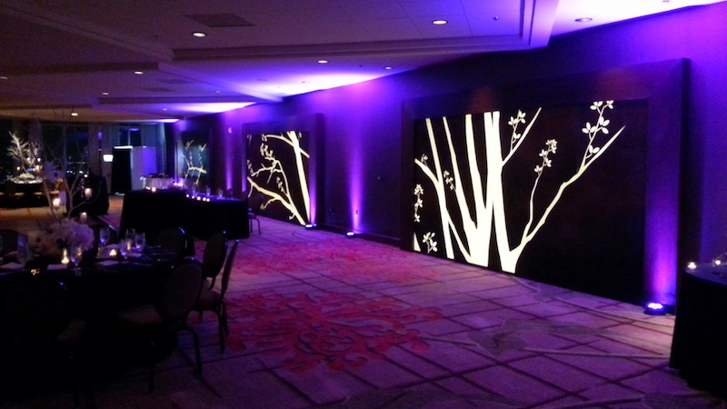An example of uplighting at a WGW Media wedding.