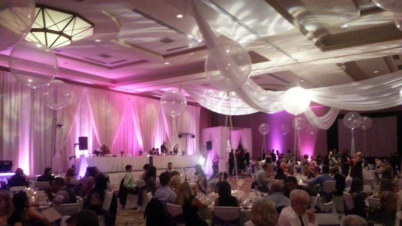 Uplighting example at a WGW Media wedding venue.